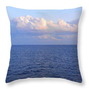 Sunrise From The Atlantic Ocean Throw Pillow