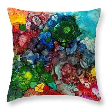 Sunrise Garden Explosion Throw Pillow