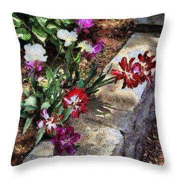 Sunrise Garden Throw Pillow by RC deWinter