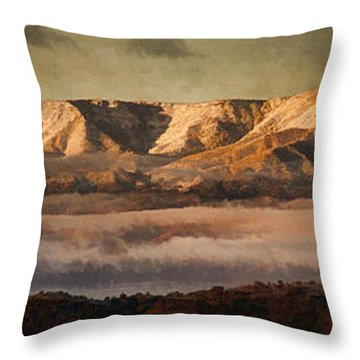 Sunrise Glow Pano Pnt Throw Pillow