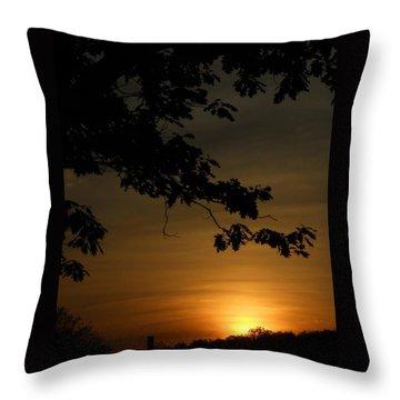 Sunrise Gold Throw Pillow