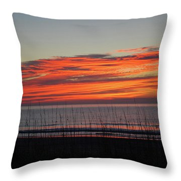 Sunrise Throw Pillow by Gordon Mooneyhan