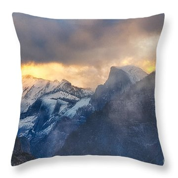 Sunrise Half Dome Throw Pillow