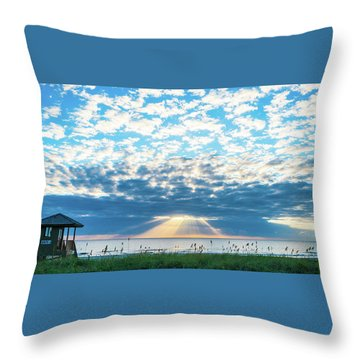 Sunrise Hope Delray Beach Florida Throw Pillow