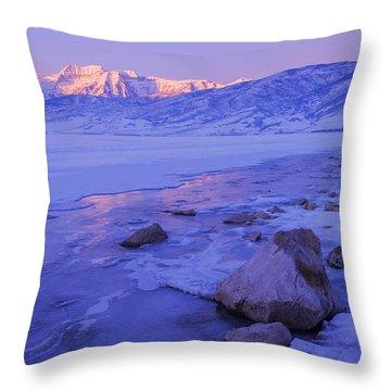 Sunrise Ice Reflection Throw Pillow