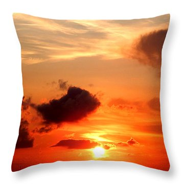 Sunrise In Ammannsville Texas Throw Pillow