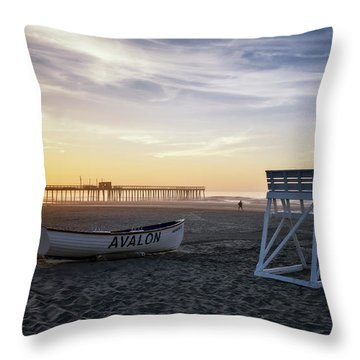 Throw Pillow featuring the photograph Sunrise In Avalon by Eduard Moldoveanu