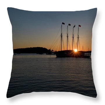 Sunrise In Bar Harbor Throw Pillow