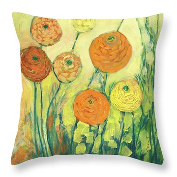 Sunrise In Bloom Throw Pillow