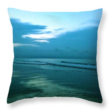 Sunrise In Blue Throw Pillow