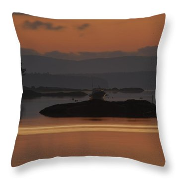 Throw Pillow featuring the photograph Sunrise In Blue Hill I by Greg DeBeck