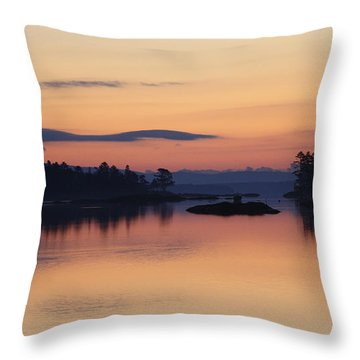 Throw Pillow featuring the photograph Sunrise In Blue Hill IIi by Greg DeBeck
