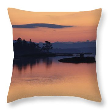 Throw Pillow featuring the photograph Sunrise In Blue Hill Iv by Greg DeBeck