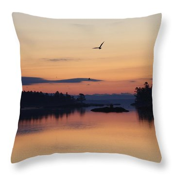 Throw Pillow featuring the photograph Sunrise In Blue Hill V by Greg DeBeck