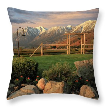 Sunrise In Carson Valley Throw Pillow by James Eddy