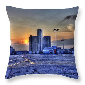 Sunrise In Detroit Mi Throw Pillow