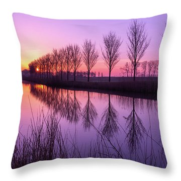 Sunrise In Holland Throw Pillow