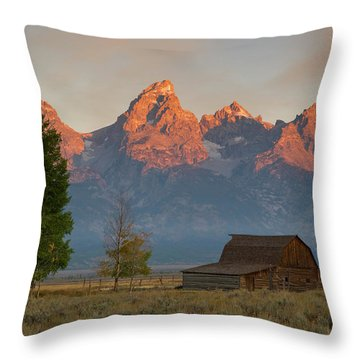 Throw Pillow featuring the photograph Sunrise In Jackson Hole by Steve Stuller