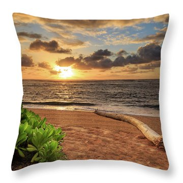 Throw Pillow featuring the photograph Sunrise In Kapaa by James Eddy