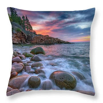 Sunrise In Monument Cove Throw Pillow by Rick Berk
