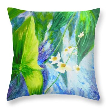 Sunrise In My Garden Throw Pillow by Irene Hurdle