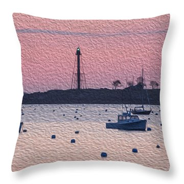 Sunrise In Oils Throw Pillow