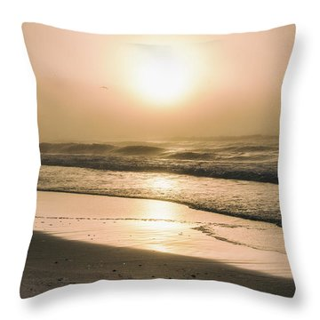 Throw Pillow featuring the photograph Sunrise In Orange Beach  by John McGraw