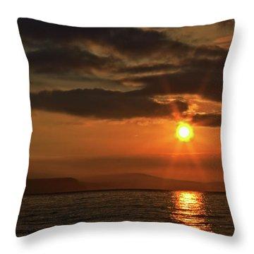 Sunrise In Portland Throw Pillow by Stephen Melia