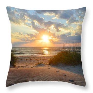 Sunrise In South Nags Head Throw Pillow