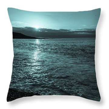 Sunrise In Stonehaven B-w Throw Pillow by Sergey Simanovsky