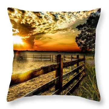 Sunrise In Summer Throw Pillow