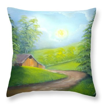 Sunrise In The Country Throw Pillow