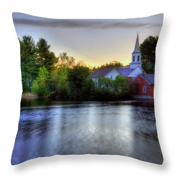 Throw Pillow featuring the photograph Sunrise In The Country - Harrisville Nh by Joann Vitali
