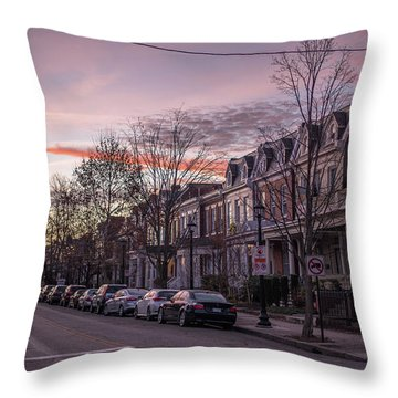 Sunrise In The Fan Throw Pillow