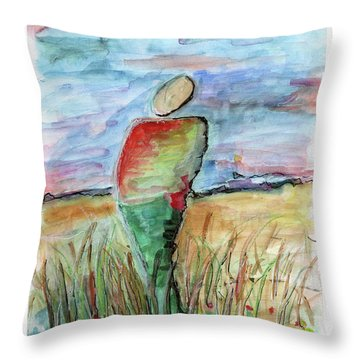 Sunrise In The Grasses Throw Pillow