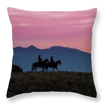 Sunrise In The Lost River Range Wild West Photography Art By Kay Throw Pillow
