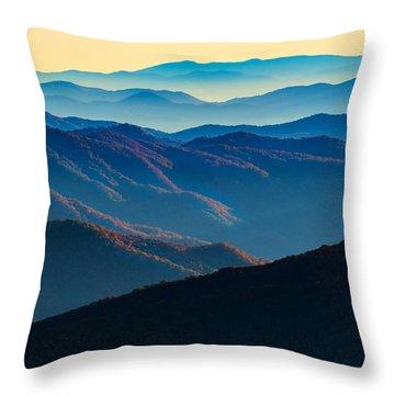 Sunrise In The Smokies Throw Pillow