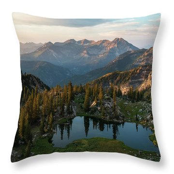 Sunrise In The Wasatch Throw Pillow
