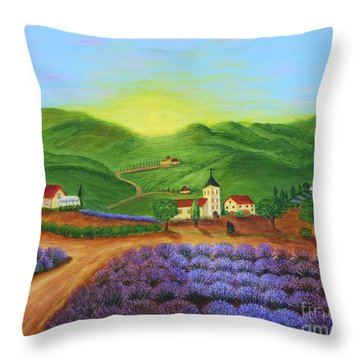 Sunrise In Tuscany Throw Pillow