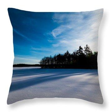 Sunrise In Winter Throw Pillow