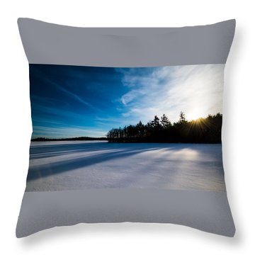 Sunrise In Winter Throw Pillow