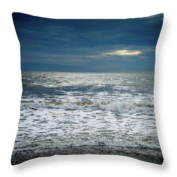 Sunrise-kennebunk Beach Throw Pillow