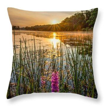 Sunrise Kent Lake Throw Pillow