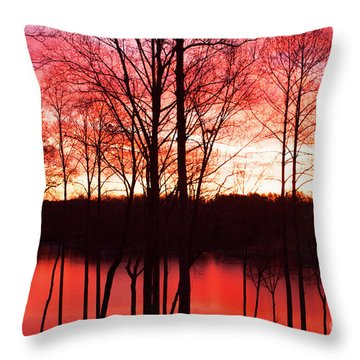 Sunrise Lake Norman North Carolina Throw Pillow