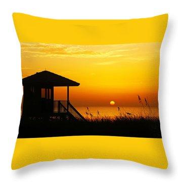 Sunrise Lifeguard Station Throw Pillow