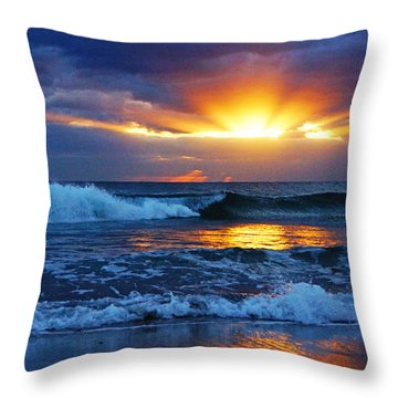 Sunrise Light Wave  Throw Pillow