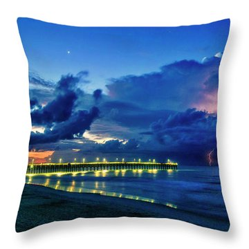 Sunrise Lightning Throw Pillow