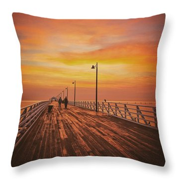 Sunrise Lovers Throw Pillow