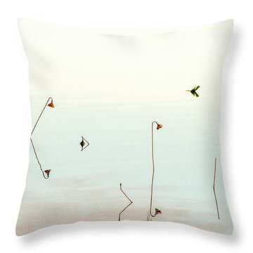 Sunrise Minalism Throw Pillow by Carolyn Dalessandro