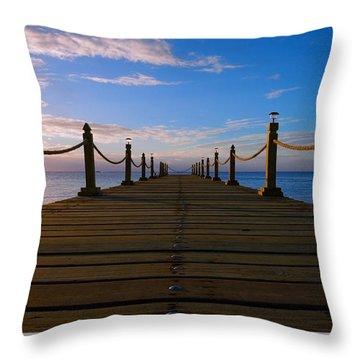 Sunrise Morning Bliss Pier 140a Throw Pillow